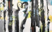 """Kissing in woods"" maleri av Ingri Egeberg"